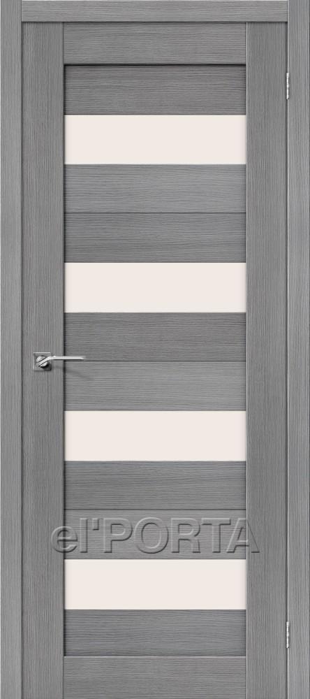 Дверь межкомнатная ПОРТА-23 3D GREY - Апис плюс