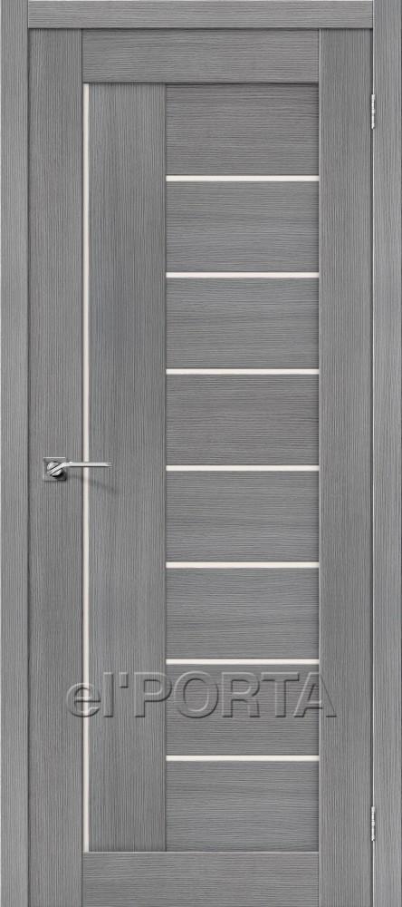 Дверь межкомнатная ПОРТА-29 3D GREY - Апис плюс