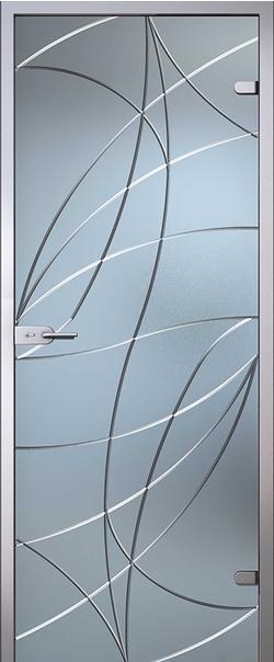 Межкомнатная дверь  Аврора б/ц матовое 800*2000 L серия Illusion (Иллюжн)    - Апис плюс