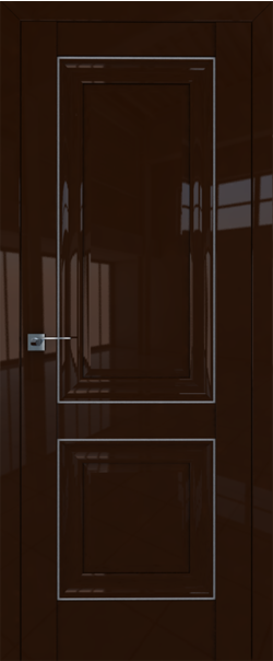 Межкомнатная дверь  27L 800*2000 Терра серебро серия ProfilDoors серия L глянец    - Апис плюс