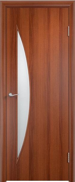 Межкомнатная дверь  С6 ДО 800*2000 Итальянский орех серия Ламинированные из МДФ    - Апис плюс