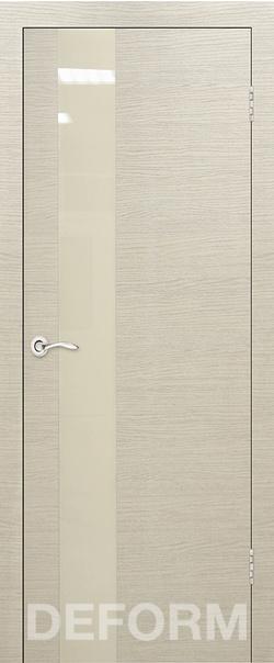 Межкомнатная дверь  Н-3 перламутровый лак 800*2000 Дуб французский капучино серия DEFORM Серия H   - Апис плюс