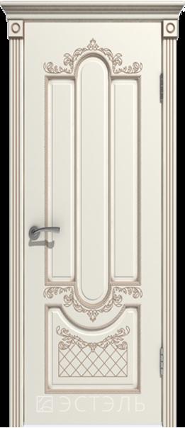 Межкомнатная дверь  Александрия ДГ 800*2000 Слоновая кость эмаль патина капучино   - Апис плюс