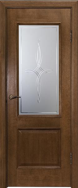 Межкомнатная дверь  ДО Шервуд-2 800 №3 Каштан серия Премиум из шпона    - Апис плюс