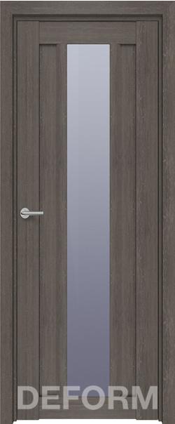 Межкомнатная дверь  D14 DEFORM ДО матовое 800*2000 Дуб шале графит серия DEFORM Серия D из экошпона   - Апис плюс