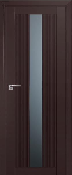 Межкомнатная дверь  53U графит 800*2000 Темно-коричневый  серия U Модерн из экошпона   - Апис плюс