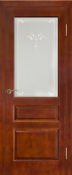 Межкомнатная дверь  Модель №5 пмц ДО 800*2000 Коньяк серия Массив сосны    - Апис плюс