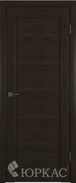 Межкомнатная дверь  Лайт 6 ДГ 800*2000 Дуб шоколад серия Лайт из экошпона   - Апис плюс