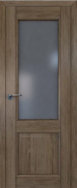Межкомнатная дверь  2.42XN графит 800*2000 Дуб салинас темный серия XN Классика из экошпона   - Апис плюс