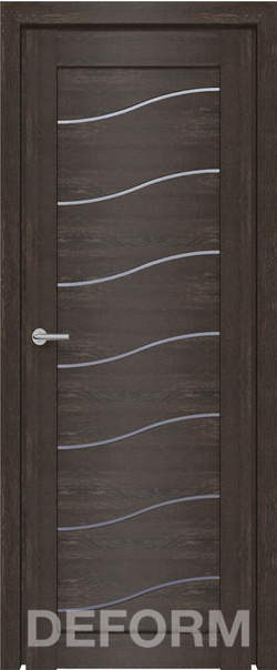 Межкомнатная дверь  D2 DEFORM ДО матовое 800*2000 Дуб шале корица серия DEFORM Серия D из экошпона   - Апис плюс