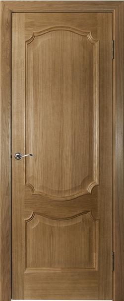 Межкомнатная дверь  Престиж ДГ 800*2000 Дуб натуральный серия Премиум из шпона    - Апис плюс