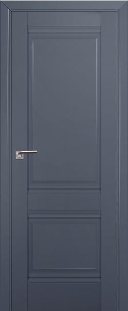 Межкомнатная дверь  1U 800*2000 Антрацит серия ProfilDoors серия U Классика из экошпона   - Апис плюс