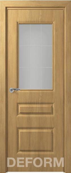 Межкомнатная дверь  Алессандро ДО матовое 800*2000 Дуб шале натуральный серия DEFORM Классика из экошпона   - Апис плюс
