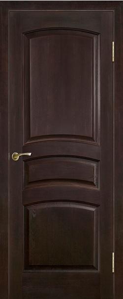 Межкомнатная дверь  Модель №16 ДГ 800*2000 Темный лак серия Массив сосны    - Апис плюс