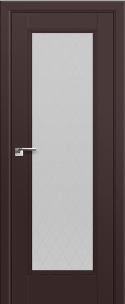 Межкомнатная дверь  65U стекло ромб 800 Темно-коричневый матовый  серия ProfilDoors серия U Классика из экошпона   - Апис плюс