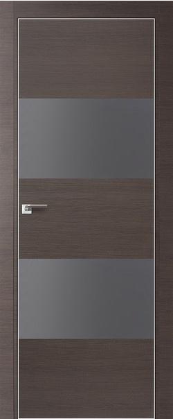 Межкомнатная дверь  10Z серебряный мат.лак 800*2000 Грей кроскут матовая с 4-х сторон Eclipse БЕЗ ЗПЗ серия ProfilDoors серия Z из экошпона   - Апис плюс