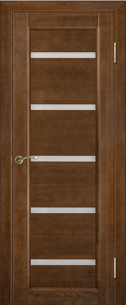 Межкомнатная дверь  Вега 5 ЧО 800*2000 Темный орех серия Массив сосны    - Апис плюс