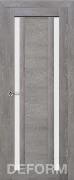 Межкомнатная дверь  D13 DEFORM ДО матовое 800*2000 Дуб шале графит серия DEFORM Серия D из экошпона   - Апис плюс