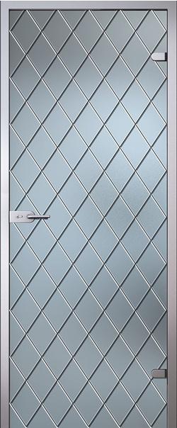 Межкомнатная дверь  Клеопатра стекло матовое б/ц 800*2000 R серия Classic (Классик)    - Апис плюс