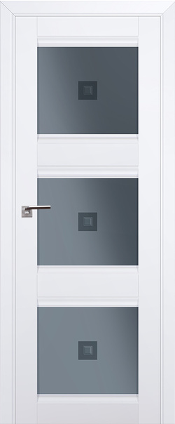 Межкомнатная дверь  4U графит узор с проз.фьюзингом 800*2000 Аляска серия ProfilDoors серия U Классика из экошпона   - Апис плюс