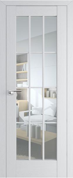 Межкомнатная дверь  102Х прозрачное 800*2000 Пекан белый серия ProfilDoors серия X Классика из экошпона   - Апис плюс