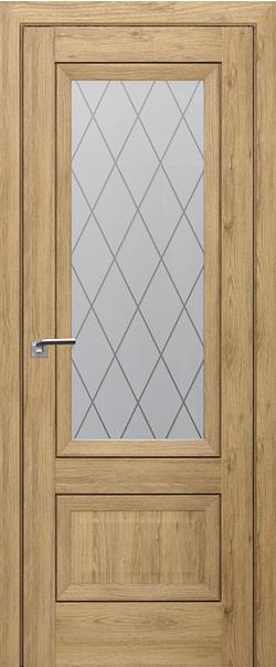 Межкомнатная дверь  2.90XN ромб крупный 800*2000 Дуб салинас светлый серия ProfilDoors серия XN Классика из экошпона   - Апис плюс