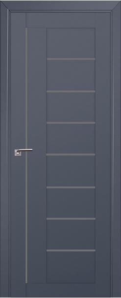 Межкомнатная дверь  17U графит 800*2000 Антрацит AL серия ProfilDoors серия U Модерн из экошпона   - Апис плюс
