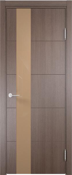 Межкомнатная дверь  Турин (13) 800 мокко Дуб фремонт вералинга серия Турин из экошпона   - Апис плюс