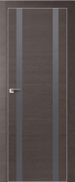 Межкомнатная дверь  9 Z серебро матлак 800 Грей кроскут кромка матовая РФ с 4 сторон серия Z из экошпона   - Апис плюс