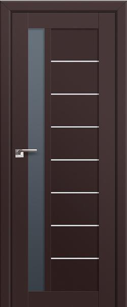 Межкомнатная дверь  37U графит 800 Темно-коричневый серия U Модерн из экошпона   - Апис плюс