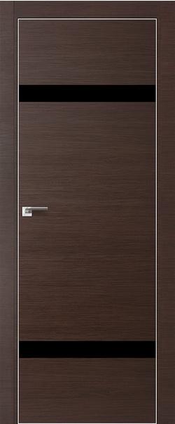 Межкомнатная дверь  3Z черный лак 800 Венге кроскут кромка матовая РФ с 4 сторон Eclipse серия ProfilDoors серия Z из экошпона   - Апис плюс