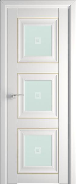 Межкомнатная дверь  97U матовое кристалл 800*2000 Аляска золото серия ProfilDoors серия U Классика из экошпона   - Апис плюс