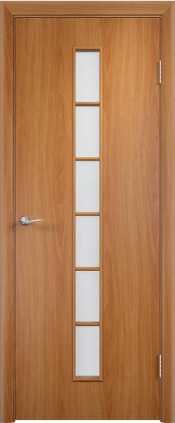 Межкомнатная дверь  С12 ДО 800*2000 Миланский орех серия Ламинированные из МДФ    - Апис плюс