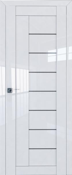 Межкомнатная дверь  17L графит 800*2000 Белый люкс серия ProfilDoors серия L глянец    - Апис плюс
