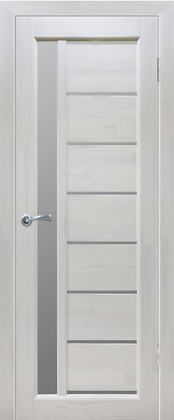Межкомнатная дверь  Вега 9 ЧО 800*2000 Белый серия Массив сосны    - Апис плюс