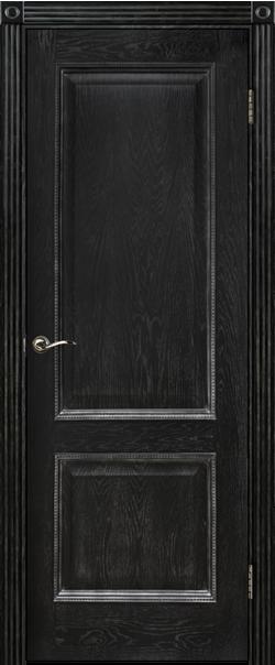 Межкомнатная дверь  ДГ Шервуд-3 600 Эмаль черная  (РАСПРОДАЖА) серия Премиум из шпона    - Апис плюс