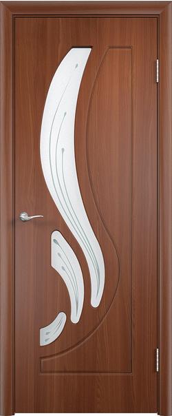 Межкомнатная дверь  Лиана ДО 800*2000 Итальянский орех серия Стандарт из ПВХ    - Апис плюс