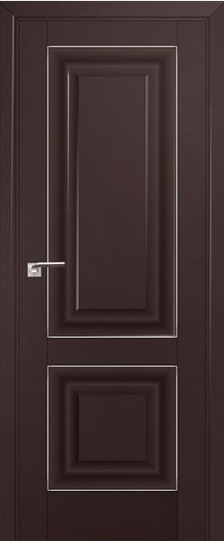 Межкомнатная дверь  27U 800*2000 Темно-коричневый матовый серебро серия ProfilDoors серия U Классика из экошпона   - Апис плюс