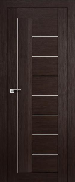 Межкомнатная дверь  17Х матовое 800*2000 Венге мелинга серия ProfilDoors серия X Модерн из экошпона   - Апис плюс
