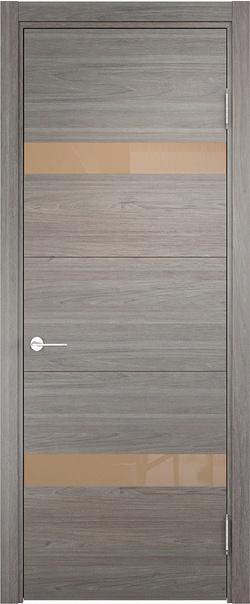 Межкомнатная дверь  Турин (05) мокко 800*2000 Дуб шервуд вералинга серия Турин из экошпона   - Апис плюс