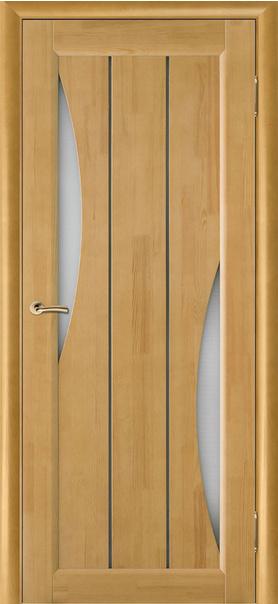 Межкомнатная дверь  Вега 4 ЧО 800*2000 Светлый орех серия Массив сосны    - Апис плюс