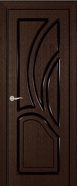 Межкомнатная дверь  ДГ Греция 2 800 Мореный дуб серия Стандарт из шпона    - Апис плюс