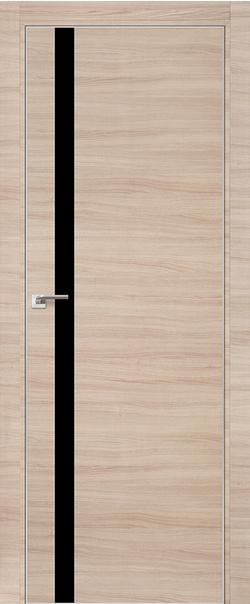 Межкомнатная дверь  6 Z черный лак 800 Капучино кроскут кромка матовая РФ с 4 сторон серия ProfilDoors серия Z из экошпона   - Апис плюс