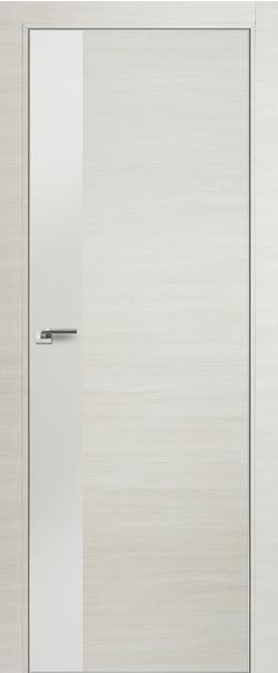 Межкомнатная дверь  14 Z белый глянец 800 Эшвайт кроскут кромка хром с 4 сторон Eclipse (190) серия ProfilDoors серия Z из экошпона   - Апис плюс
