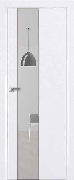 Межкомнатная дверь  5 E зеркало 800 Аляска (кромка матовая) AGB Eclipse серия E из экошпона   - Апис плюс