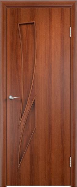 Межкомнатная дверь  С2 ДГ 800*2000 Итальянский орех серия Ламинированные из МДФ    - Апис плюс