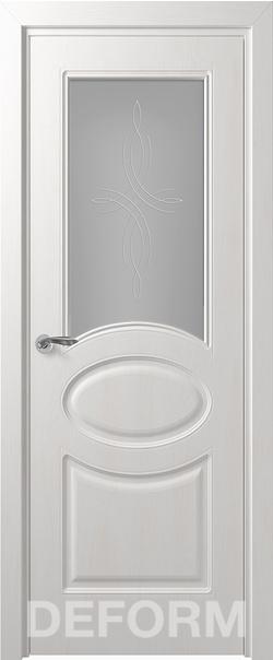 Межкомнатная дверь  Прованс ДО матовое 800*2000 Дуб шале снежный серия DEFORM Классика из экошпона   - Апис плюс