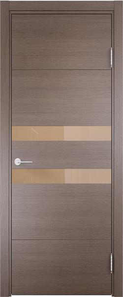 Межкомнатная дверь  Турин (11) мокко 800*2000 Дуб фремонт вералинга серия Турин из экошпона   - Апис плюс