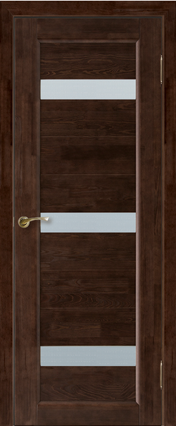 Межкомнатная дверь  Модель №2 ЧО 800.1*2000 Венге серия Массив сосны    - Апис плюс