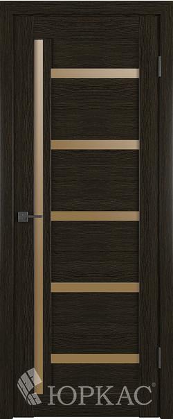 Межкомнатная дверь  Лайт 18 ДО бронза матовое 800*2000 Дуб шоколад серия Лайт из экошпона   - Апис плюс